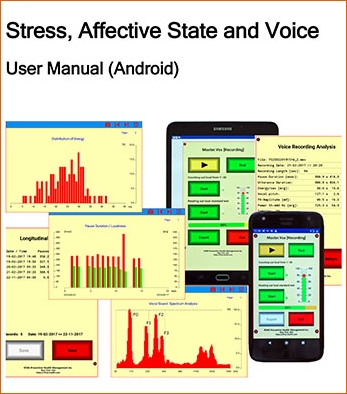 the «Depressive-Voice» App installed on a smartphone and a tablet