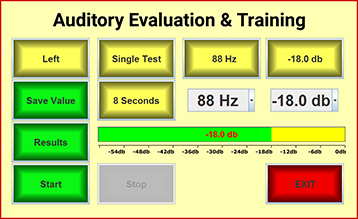 Self-assessment auditory evaluation and personalized training